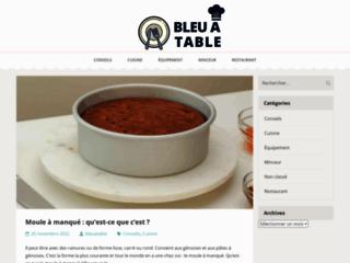 Détails : Bleu à Table