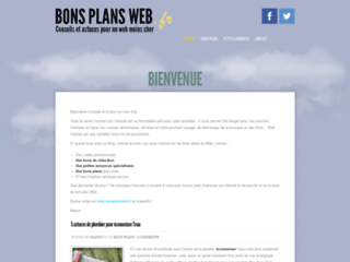 Les bons plans pour le web