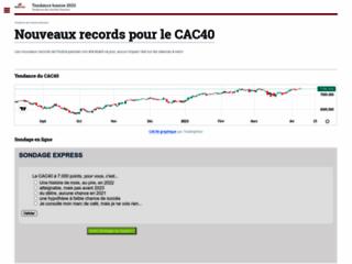 Détails : Bourse Tendance : Tendances des marchés