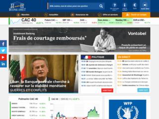Détails : Bourse direct, cotations en direct