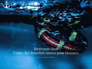 Bracelet Ancre Homme : Boutique de vente des bracelets ancres