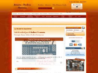 Détails : Broderie Alsacienne - Mercerie - Point de croix