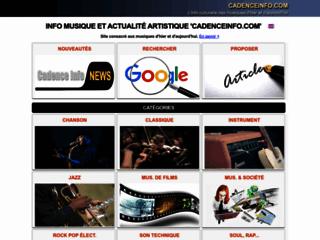 Détails : Actualité, brèves et info musique Cadenceinfo