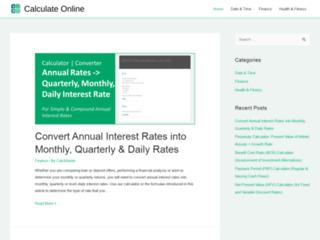 Détails : Calculatrice en ligne