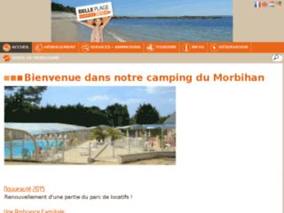 Camping Belle Plage, 3 étoiles, dans le Morbihan à Ploemeur