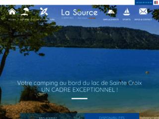 Camping La Source aux Salles sur Verdon