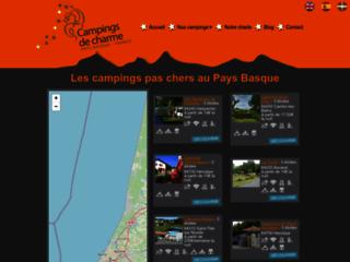 Détails : Les campings de Charmes, campings au Pays Basque