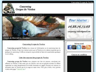 Gorges du Verdon canyoning