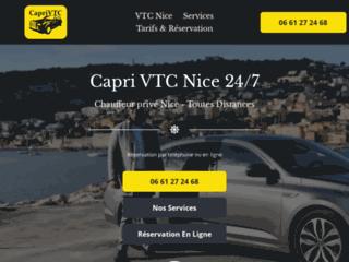 Caprivtc.fr : Capri VTC, chauffeur VTC à Nice