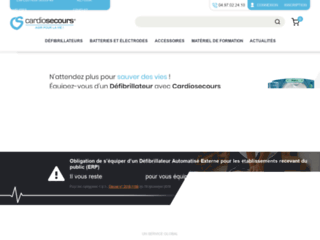 Cardiosecours.fr, 1er distributeur de défibrillateurs