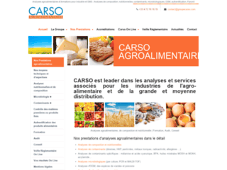 CARSO Agroalimentaire : analyse de la composition nutritionnelle des aliments