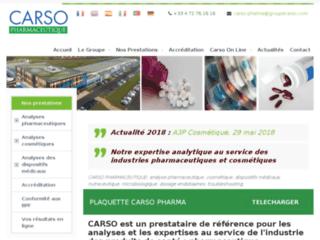 Détails : Carso Pharmaceutique, analyses pharmaceutiques