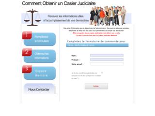 Détails : Demande d'extrait de casier judiciaire