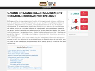 Classement des meilleurs casinos en ligne belges