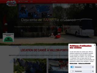 La descente des gorges de l'Ardèche depuis Vallon-Pont-d'Arc en sud Ardèche