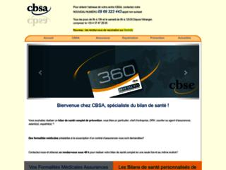 Détails : Votre centre de bilan de santé : CBSA