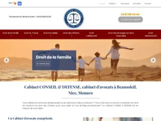Cabinet CONSEIL & DEFENSE, cabinet d'avocats à Beausoleil, Nice, Monaco
