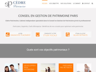 Présentation Cèdre Patrimoine, cabinet de conseil en gestion de patrimoine présent à Paris et Lyon