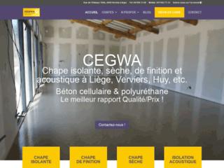 Cegwa: chape liquide à Liège, Huy et Verviers