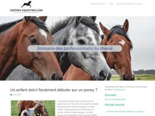 Centres équestres, blog et annuaire sur l'équitation