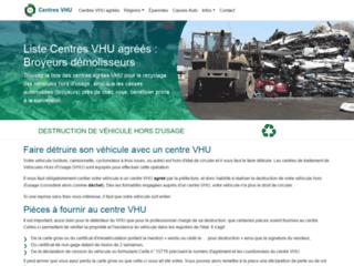 Détails : Services de destruction de VHU