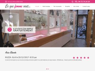 Ce Que Femme Veut, boutique de bijoux de créateurs, Lyon