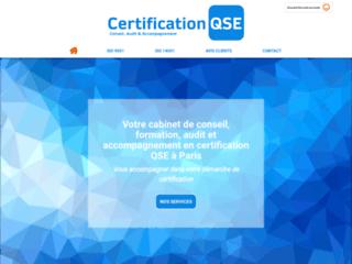 Certification QSE à Villepreux
