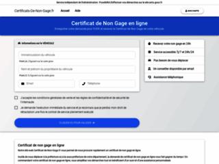 Détails : Certificat de situation administrative