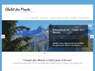 Détails : Le Centre de vacances Chalet des Monts en Savoie vous accueille toute l'année