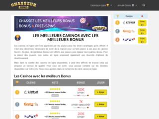 Chasseur de Bonus, les casinos en ligne avec les meilleurs bonus