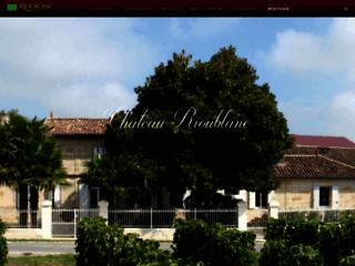 Château Rioublanc Vins de Bordeaux Bio