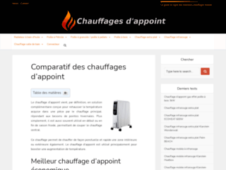 Chauffages d'appoints 2019