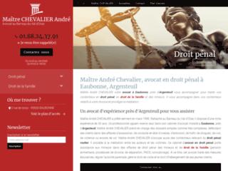 Maître André Chevalier, avocat en droit pénal à Eaubonne, Argenteuil