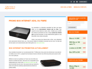 Promotions box adsl et fibre
