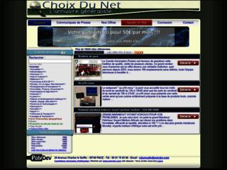 Détails : Choix du Net, annuaire gratuit généraliste