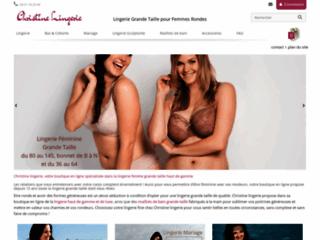 Détails : Christine lingerie : choisissez des sous-vêtements grande taille pour femmes rondes