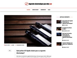 Détails : cigarette électronique