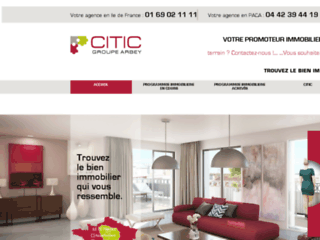Citic promoteur immobilier en Ile de France et PACA