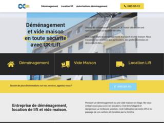 CK-Lift, portail web de votre entreprise de déménagement à Bruxelles