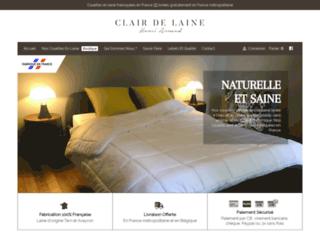 Des couettes en laine naturelles fabriquées en France