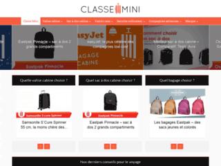 « Classe-Mini », guide comparatif sur les valises cabines pas chères