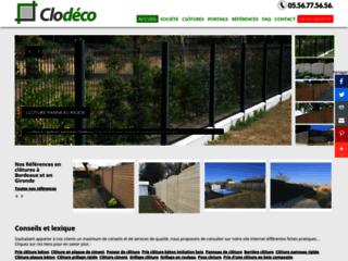 Détails : Clodéco - fourniture et poses de clôtures