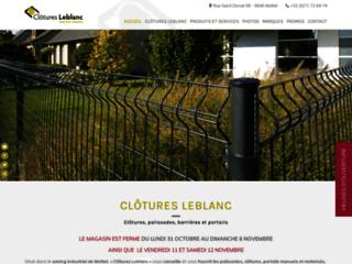 Détails : Clôtures Leblanc - spécialiste en clôtures et portails en Wallonie