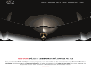 Détails : Club events assure dans prestations automobiles