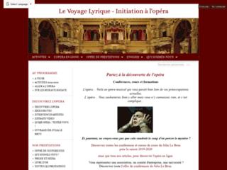 Le Voyage Lyrique - Opera coaching
