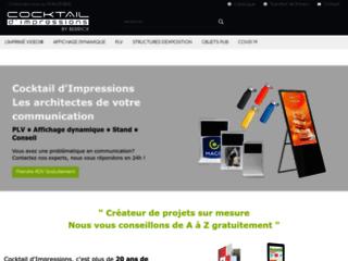 Cocktail d'impressions – Brochure vidéo standard ou sur mesure