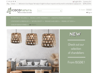 Détails : Coco Papaya : boutique de décoration exotique