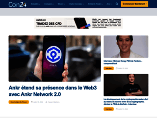 Détails : Coin24, actualités sur les monnaies électroniques
