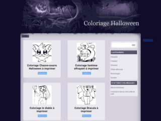 Coloriage gratuit de dessins d'Halloween