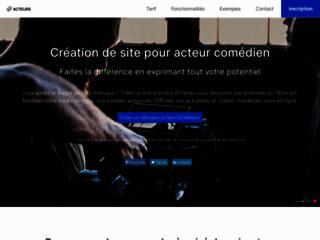 Détails : Création de sites pour comédiens